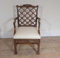 10 Mahogany Gothic Chippendale Dining Chairs Diners
