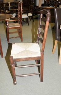 6 Oak Ladderback Farmhouse Kitchen Chairs Chair