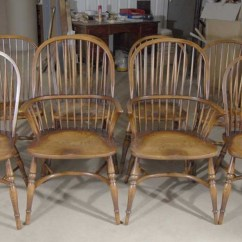 Farmhouse Chairs For Sale Stokke High Chair Cushion Install 8 English Windsor Dining Oak Ebay Details About