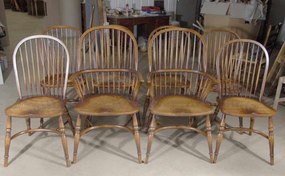 farmhouse dining chairs swivel glider chair nursery 8 english windsor oak ebay details about