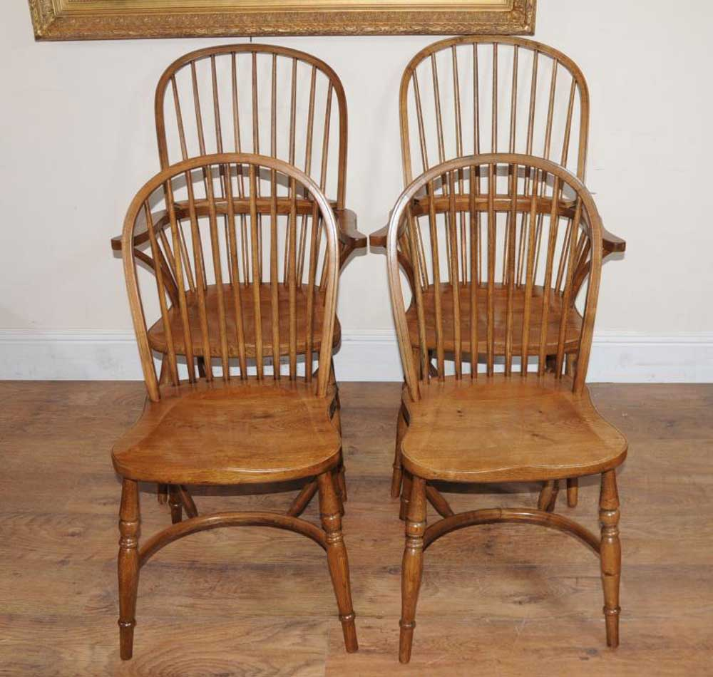 ladderback dining chairs revolving chair wheel base 8 oak windsor kitchen farmhouse
