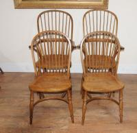 8 Oak Windsor Kitchen Dining Chairs Farmhouse Chair | eBay