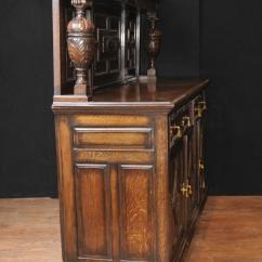 Kitchen Buffet Furniture Cost Of Remodeling Antique Oak Jacobean Sideboard Server