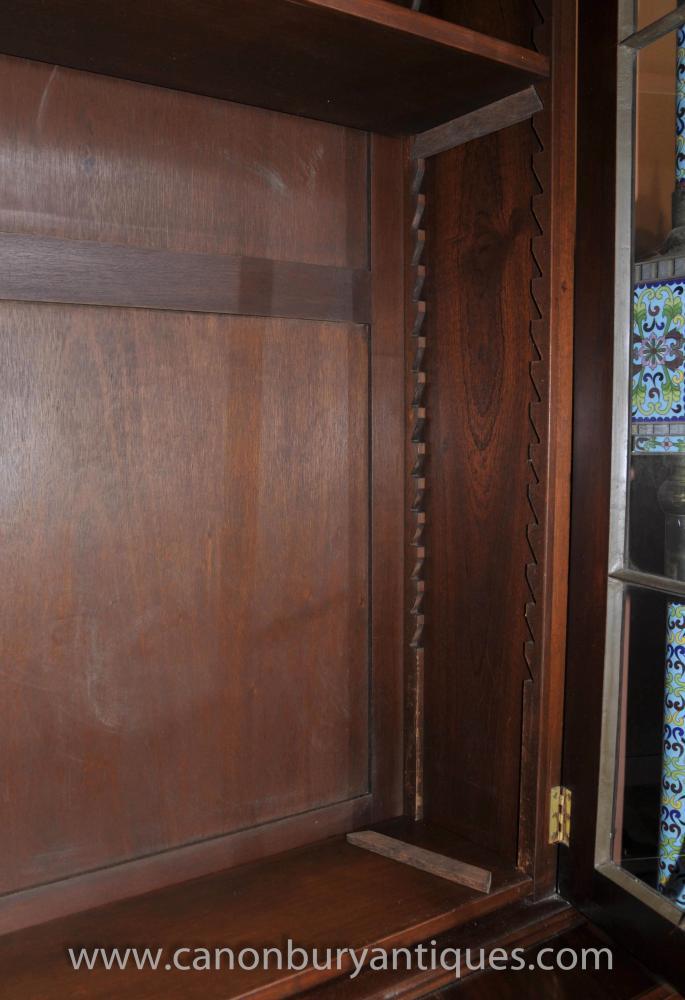 Antique Regency Display Cabinet Bookcase Mahogany