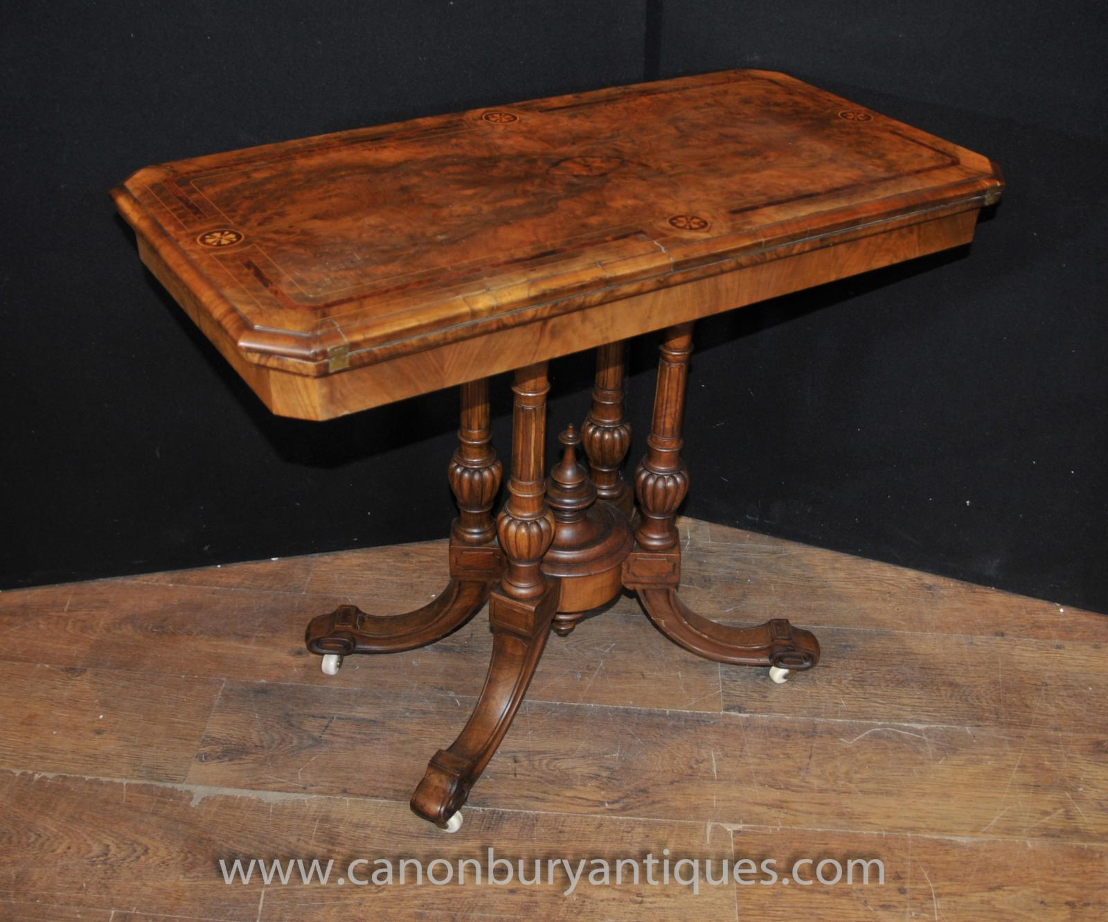 sofa table ebay cheap leather corner sofas uk antique victorian card games walnut side end