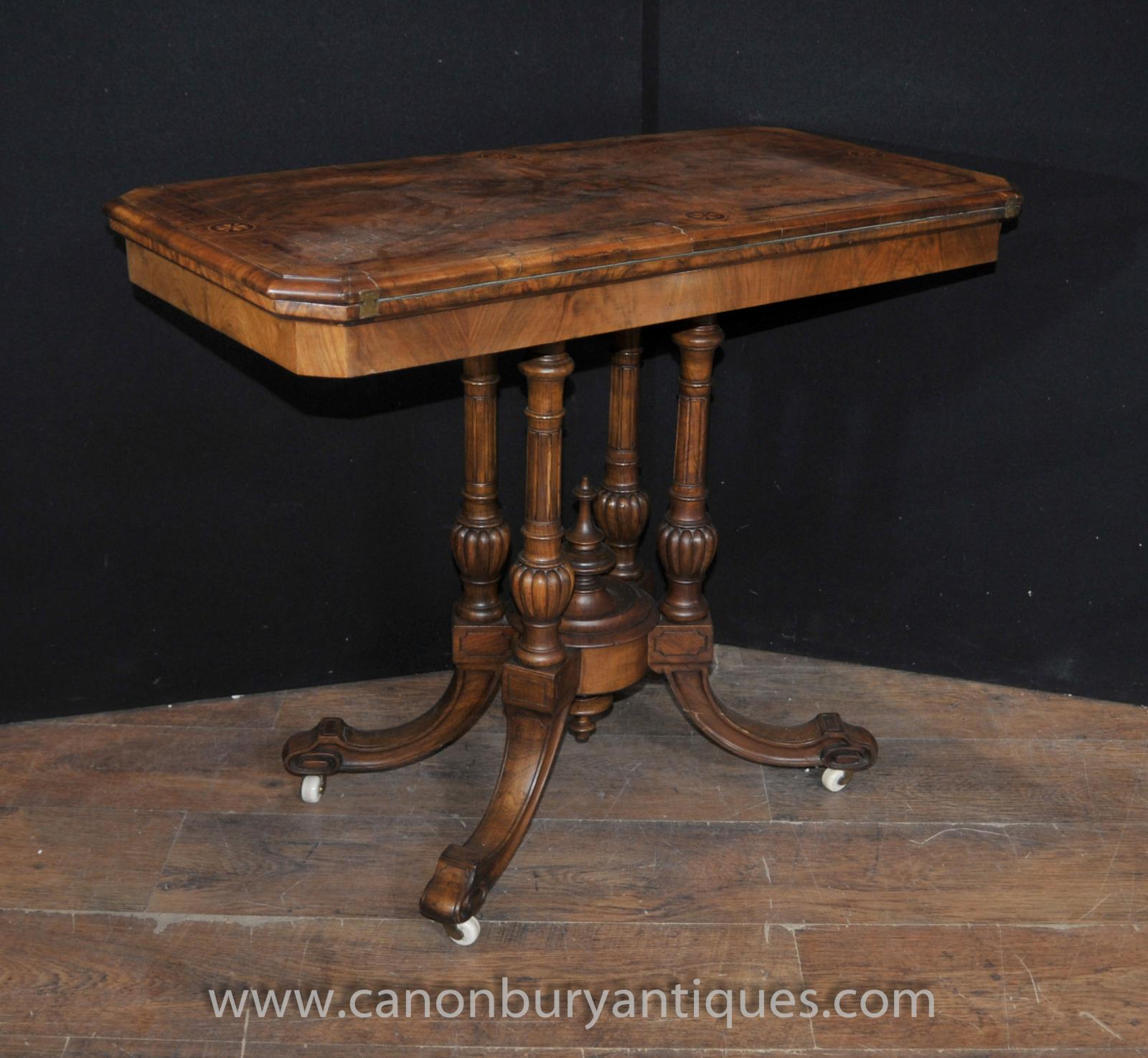 sofa table ebay small 2 piece sectional antique victorian card games walnut side end