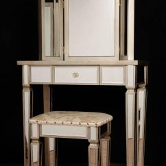 Bedroom Dressing Table Chair Cheap Rental Chairs And Tables Art Deco Mirrored Stool Set
