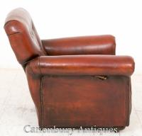 Art Deco Reclining Leather Club Chair Arm Chairs 1930 | eBay