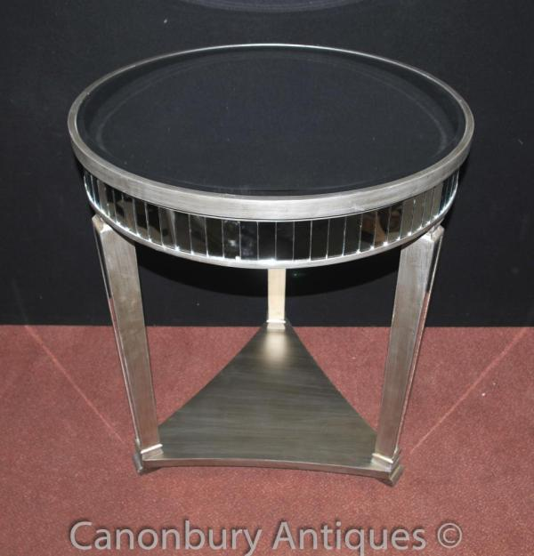 Art Deco Mirrored Side Table