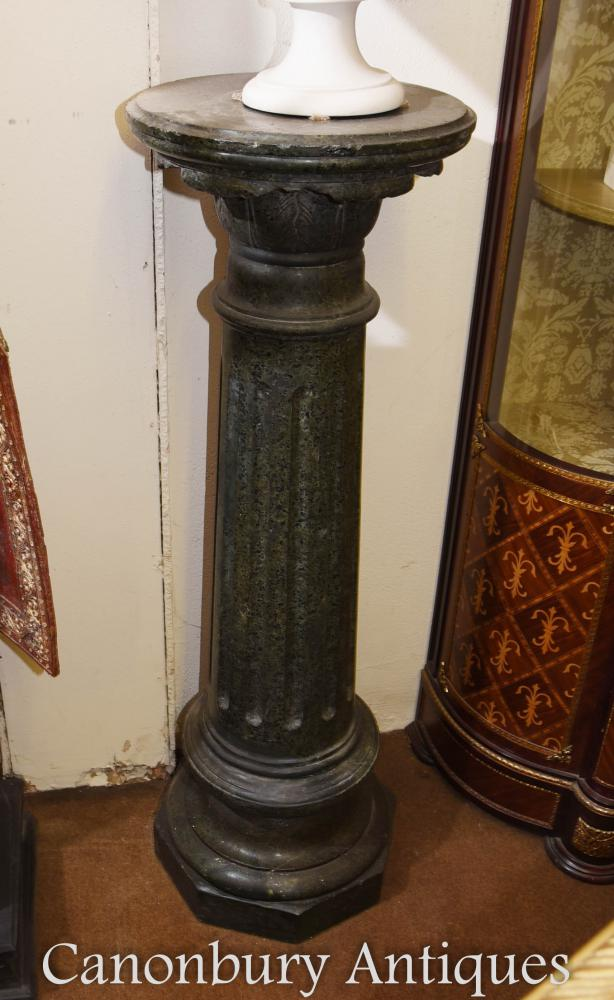 French Empire Marble Pedestal Column Table Stand