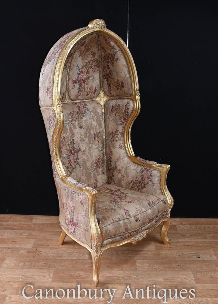 Regency Gilt Porters Chair Arm Chairs