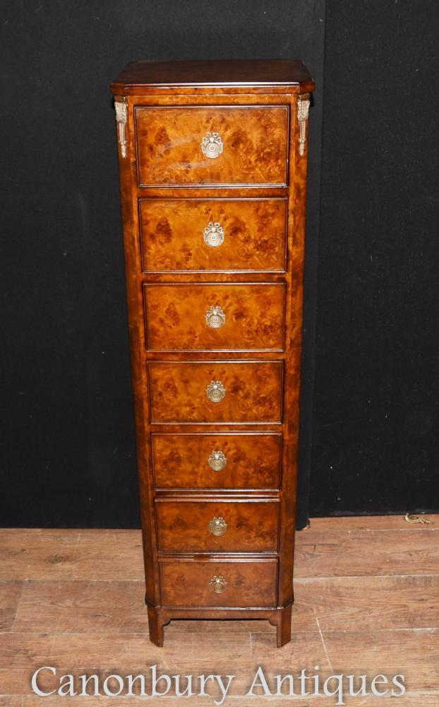 tall back chairs small for kids regency walnut lingerie commode chest drawers boy