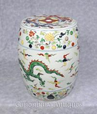 Single Qianlong Chinese Porcelain Garden Seat Stool ...