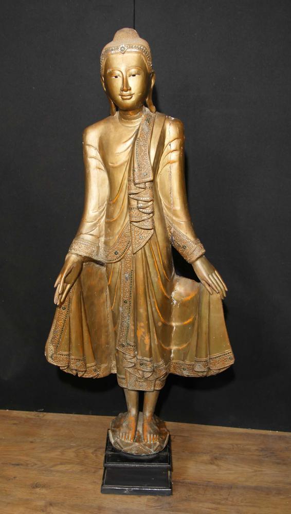Tall Tibetan Standing Buddha Statue Sculpture Buddhist Art