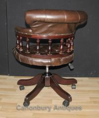 Victorian Captains Chair Office Swivel Desk Chairs with ...