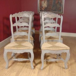 Ladderback Dining Chairs High Chair Stokke English Farmhouse Painted & Kitchen Refectory Table Set