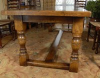English Farmhouse Refectory Table and 8 Ladderback Chairs ...