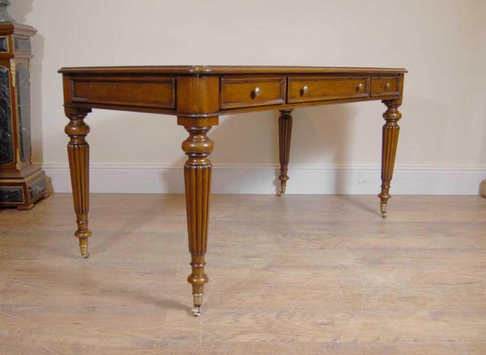 English Victorian Gillows Writing Desk Table Bureau