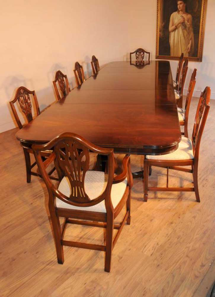 Mahogany Regency Dining Set Table  Prince Wales Chairs