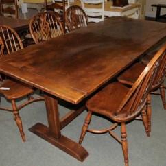 5 Piece Kitchen Table Sets Lantern Lighting Oak Refectory Dining Furniture Trestle Tables