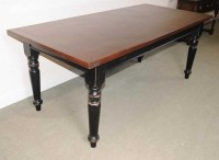 Oak Refectory Table Painted Base Kitchen Farmhouse Dining ...