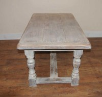 Painted Oak Rustic Kitchen Refectory Table Dining | eBay