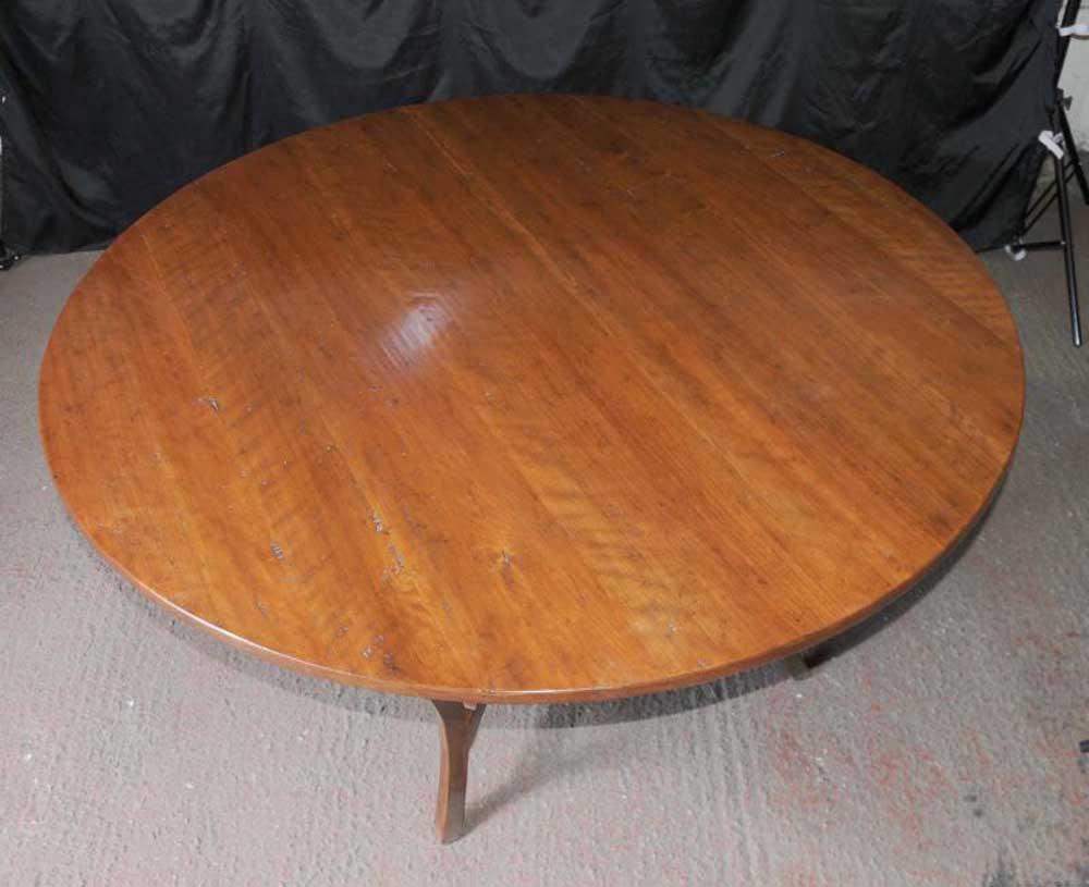 Round Kitchen Dining Table Cherry Wood Farmhouse