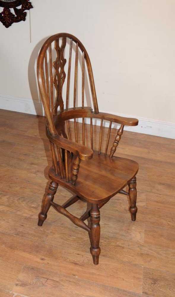 Set 6 Windsor Arm Chairs Armchairs Oak Farmhouse