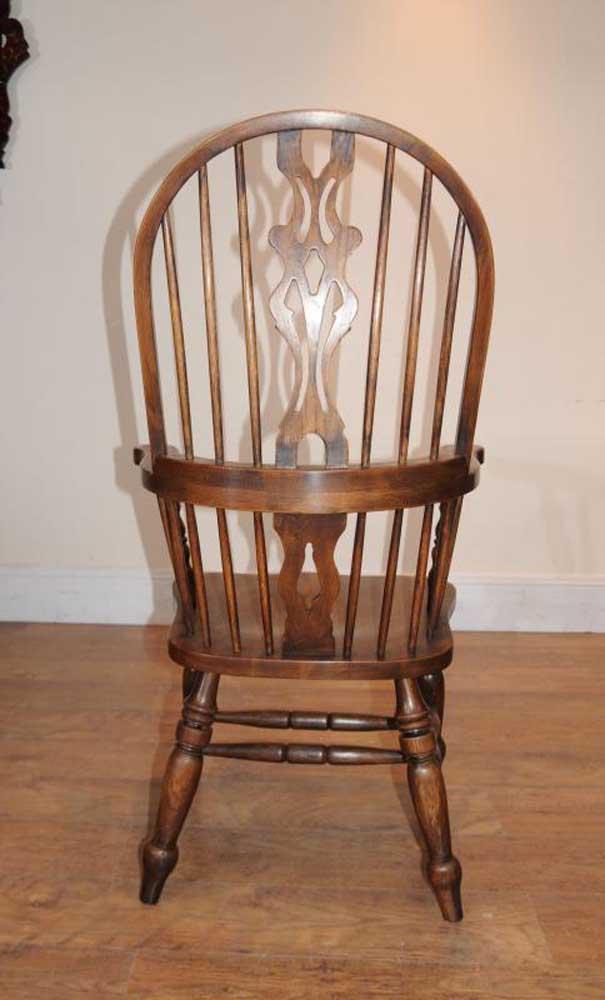 windsor kitchen chairs swing chair orlando set 6 arm armchairs oak farmhouse