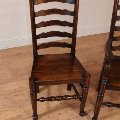 Queen Anne Dining Chair Upholstery Fabric For Chairs Set 8 Oak Ladderback Kitchen Farmhouse Furniture