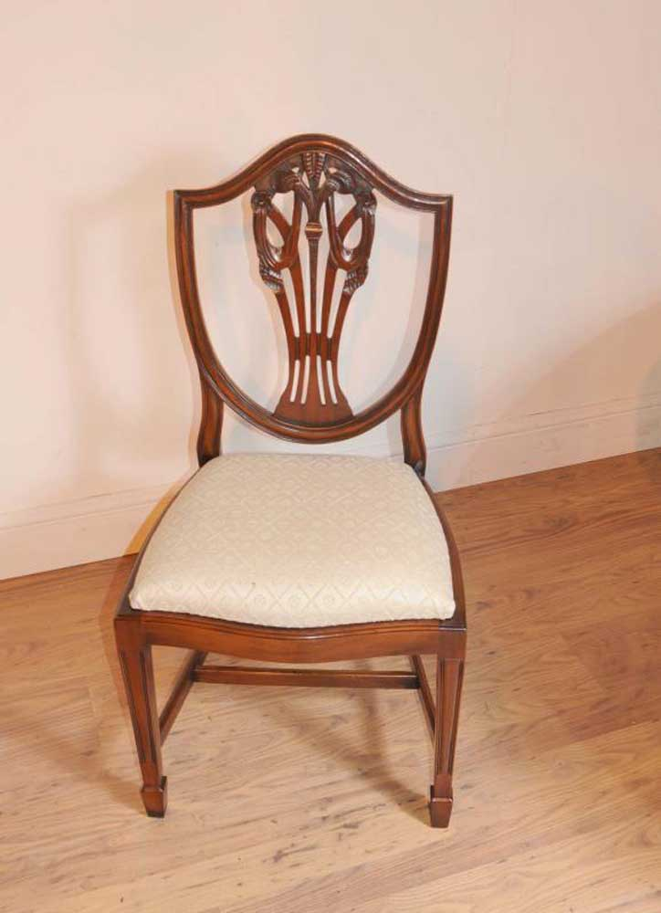 Set Prince Wales Mahogany Dining Chairs Furniture