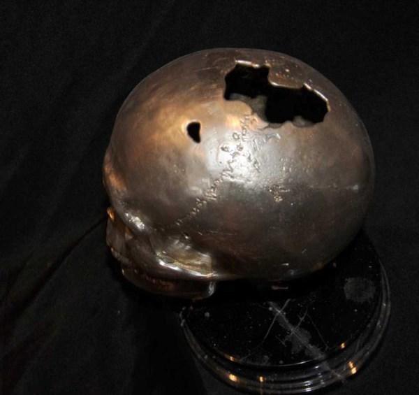 Silver Bronze Skull Hamlet Head Gothic Skeleton