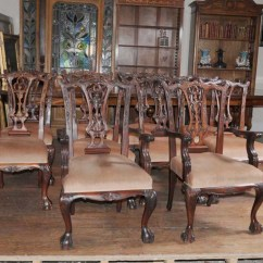 Art Deco Kitchen Chairs Bicycle Desk Chair Victorian Dining Table Set Chippendale Suite Mahogany