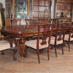 Antique Dining Chair Leg Styles Best Office Under 100 Victorian Table Set Chippendale Chairs Suite Mahogany