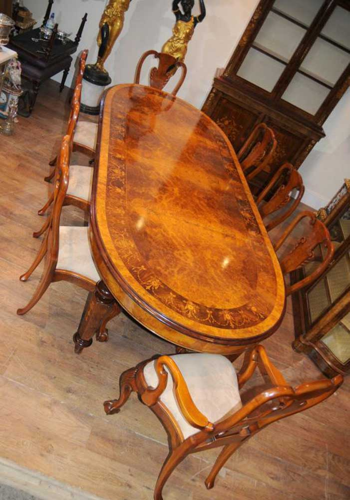 queen anne dining chair canyon swing new zealand walnut victorian table set