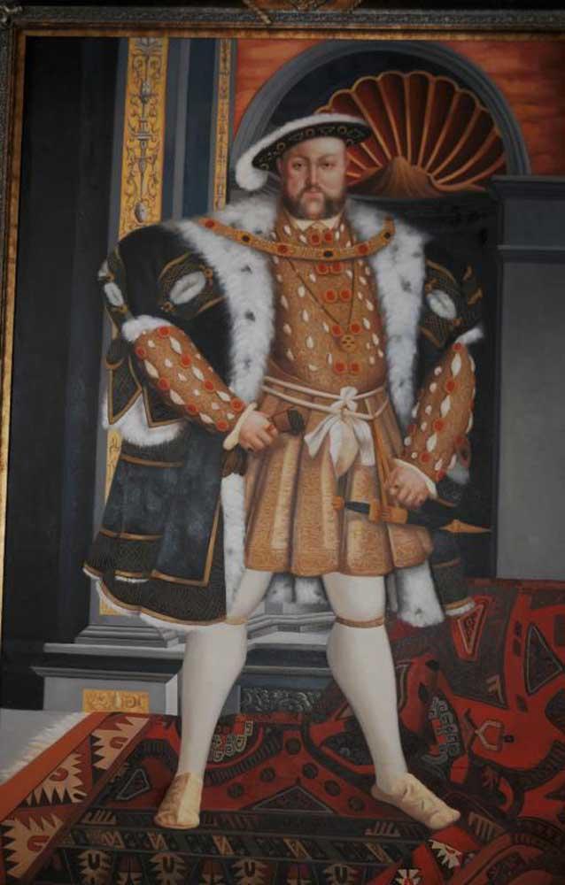 XL Oil Painting King Henry VIII 8th Eight English Monarch Tudor Royalty