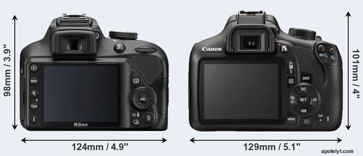 Canon T6 vs Nikon D3400 Comparison