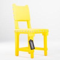 Moooi Gothic Chair blauw // witte knoppen (kunststof ...