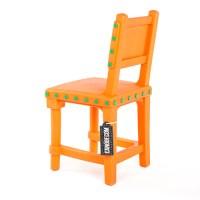 Moooi Gothic Chair oranje // groene knoppen (kunststof ...