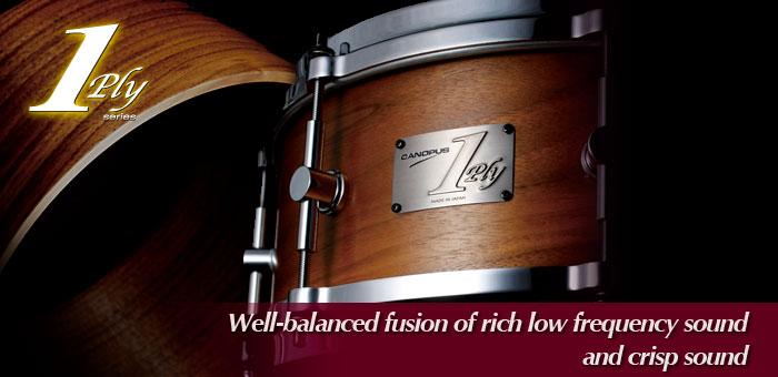 1ply Walnut Snare Drum