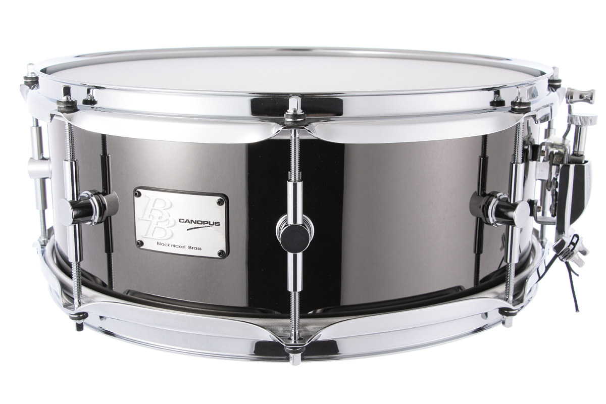 Black Nickel Brass Snare Drum BB-1455