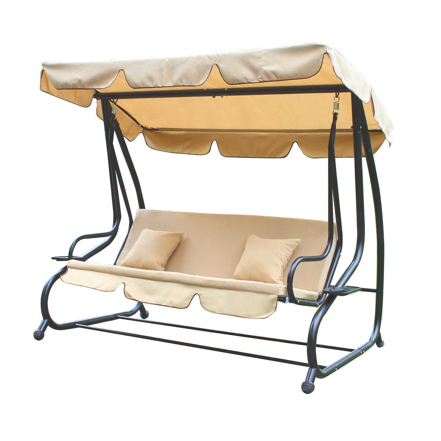 swing chair canopy replacement wheelchair transport zephyrhills the 16 best 3 person swings available on amazon