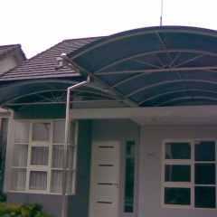 Kanopi Baja Ringan Model Segitiga 65 Gambar Galvalum Lengkung Sisi Rumah Minimalis