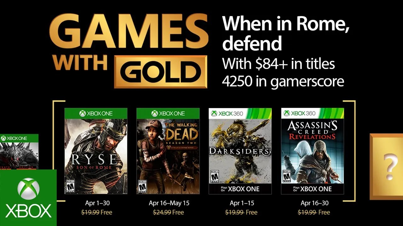 Xbox: Games with Gold do mês de Abril