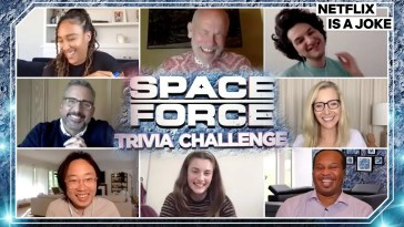 Steve Carell and Lisa Kudrow Play Trivia With The Cast Of Space Force | Netflix