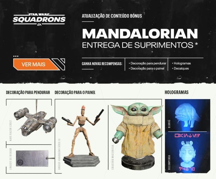 Star wars, Star Wars: Squadrons vai receber DLC da série The Mandalorian