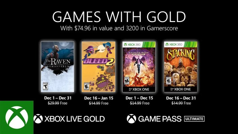 Xbox - December 2020 Games with Gold