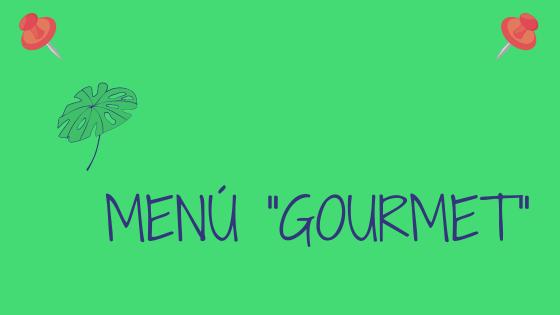 Cartel Web Menu gourmet