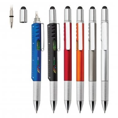 6 in 1 Stylus Multi Tool Promotional Pen