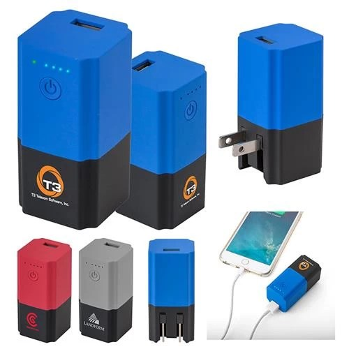 custom wall plug power bank combo